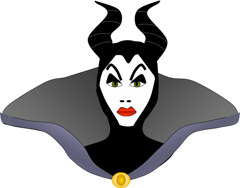 Maleficent, Characters, Cartoon, Evil, Devil, Face
