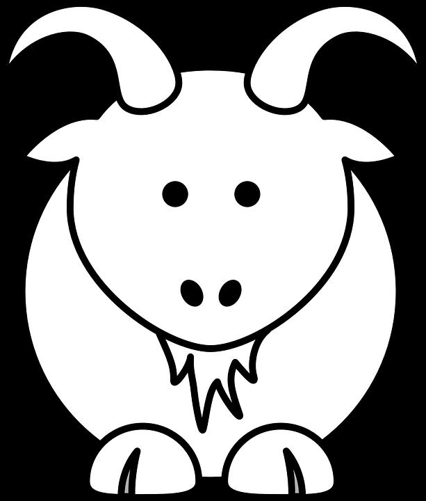 Goat, Animal, Farm Animal, Cartoon, Horns, Mammal, Cute