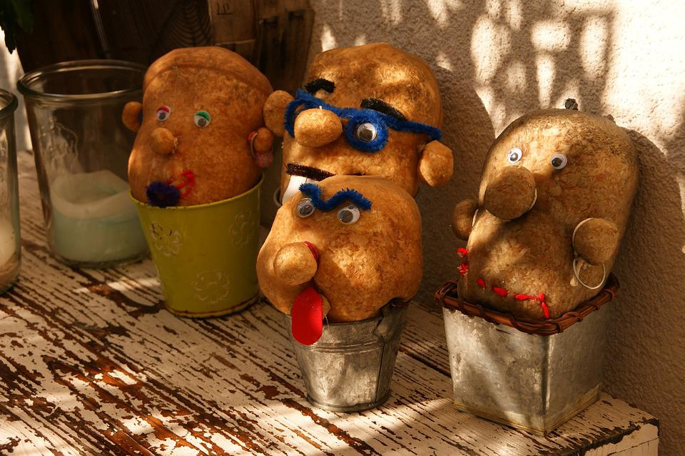 Funny, Heads, Grass Head, Faces, Cute, Cartoons, Color