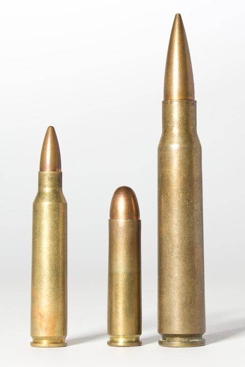 Cartridges, Muniiton, Caliber, Weapons, Sleeves, Pistol