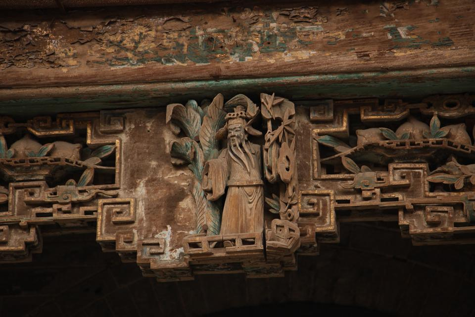Carve, Sculpture, Chinese, Ancient