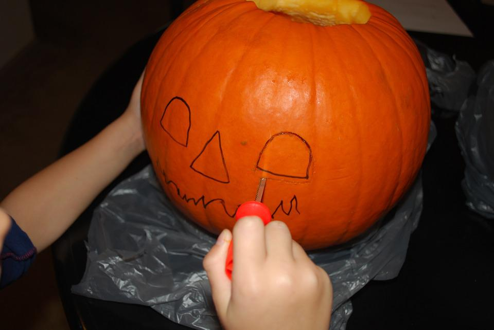 Pumpkin, Carving, Carved, Halloween, Jack-o-lantern