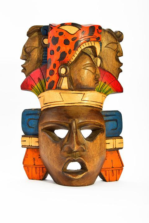 free photo carved isolated indian mask aztec wooden painted max pixel