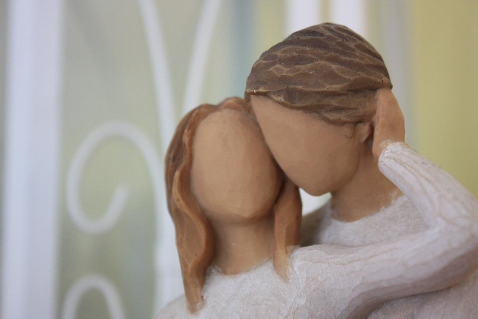 Man, Woman, Pair, Carved, Love, Tender