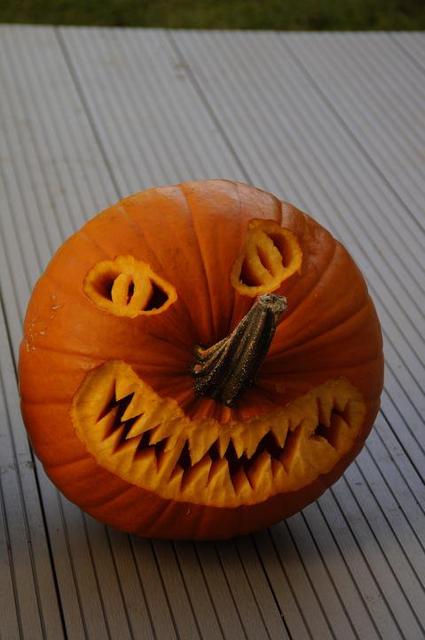 Halloween, Halloweenkuerbis, Carved, Pumpkin, Autumn
