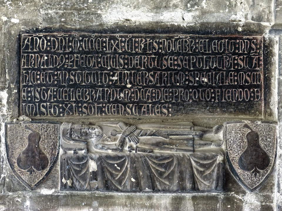 Tomb, Cathedral Tortosa, Medieval Art, Carved Stone