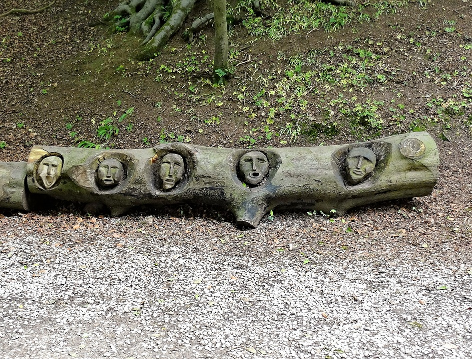 Witches, Carved, Log, Witchcraft, Scary, Spooky, Wooden