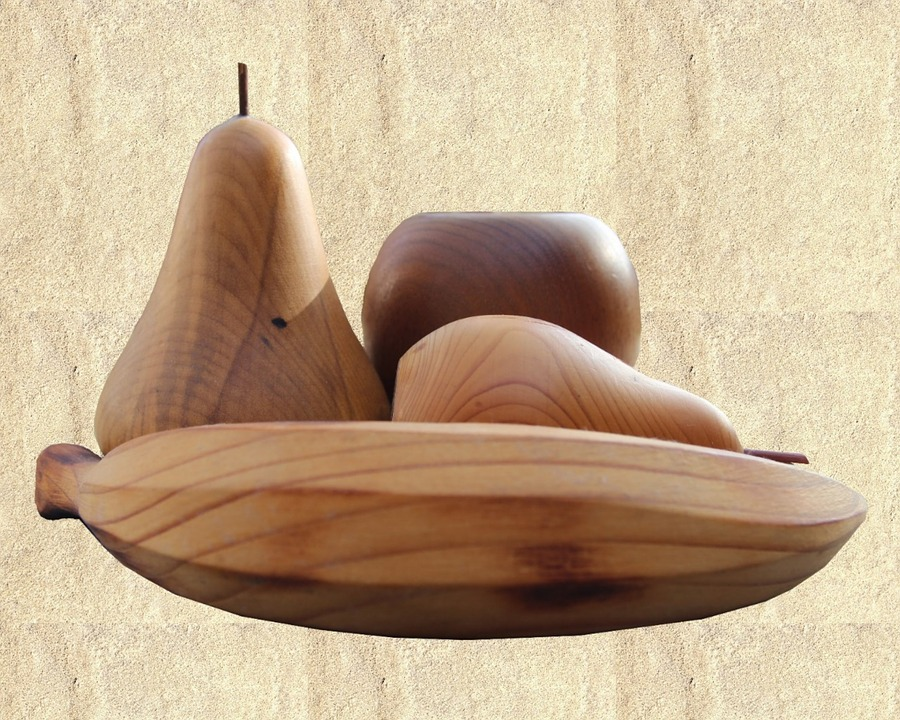 Fruit, Wood, Carved