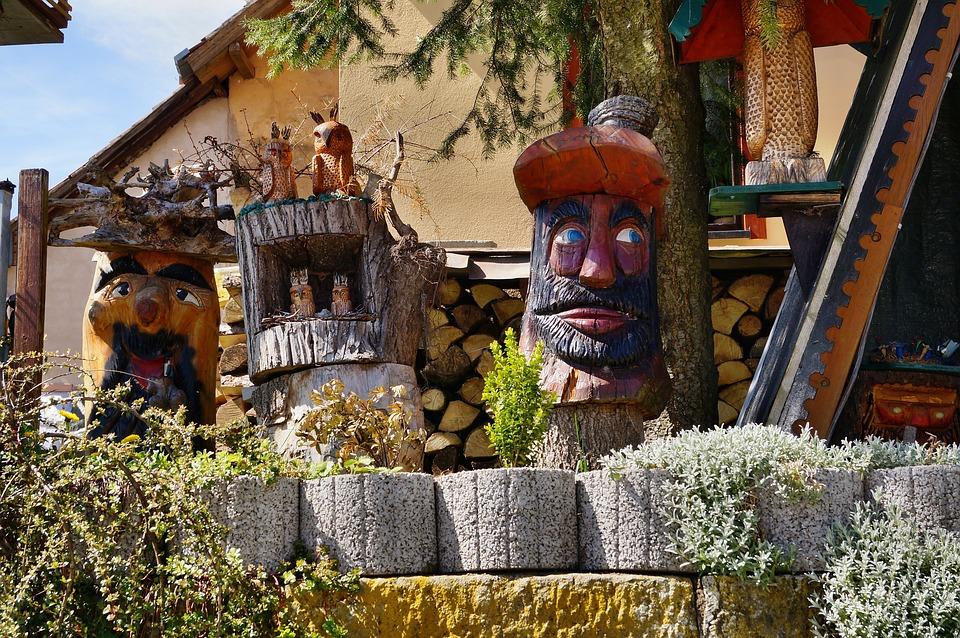 Holzfigur, Carve, Fig, Carving, Waldschrat