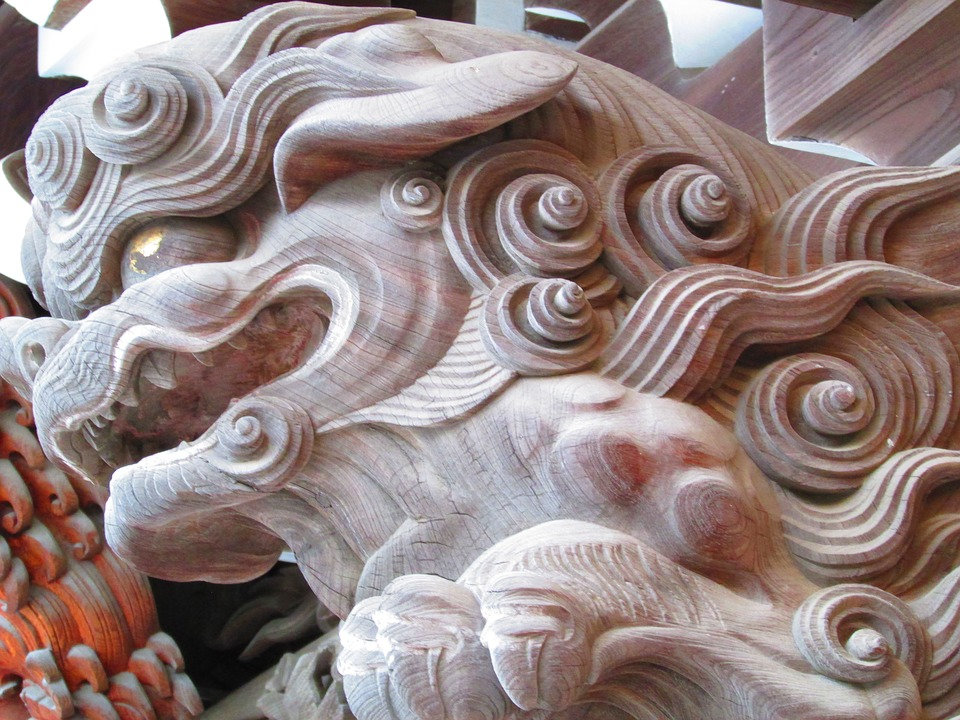 Temple, Japanese, Carving
