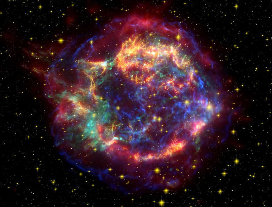 Purple Star Astrology Chart: Free photo Spiral Supernova Cassiopeia Galaxy Fog Cassiopeia - Max ,Chart