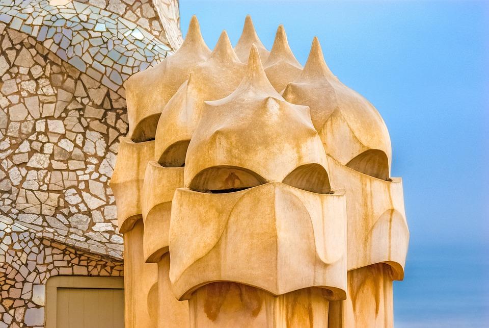 Gaudi, Casa Mila, Milà, Architecture, Barcelona