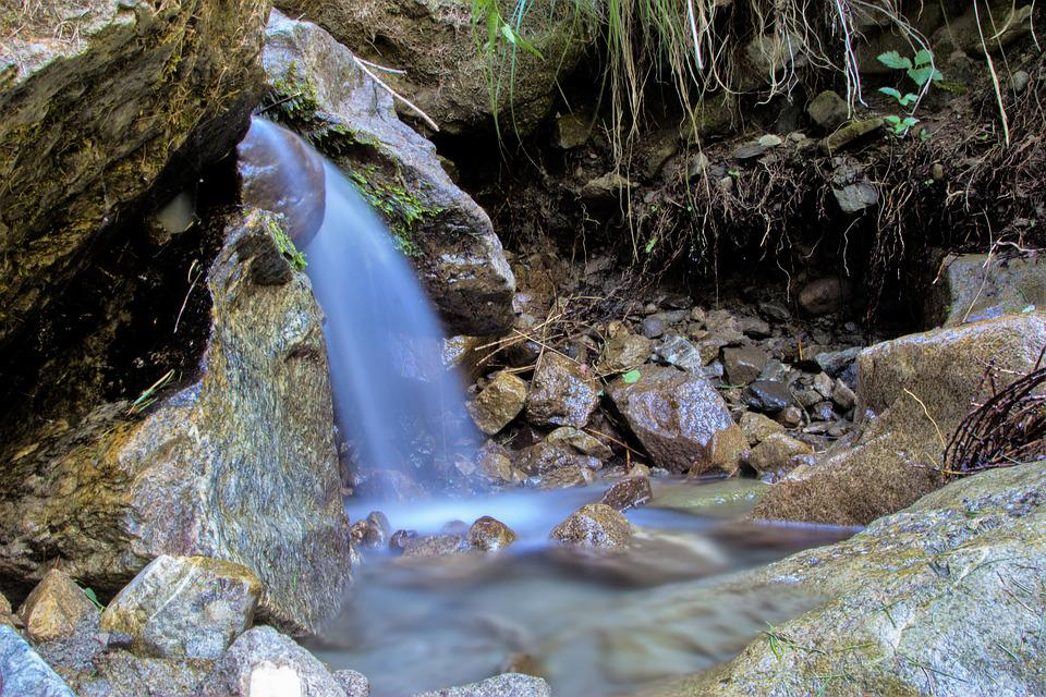 Water, Nature, Cascade, Roche, Creek