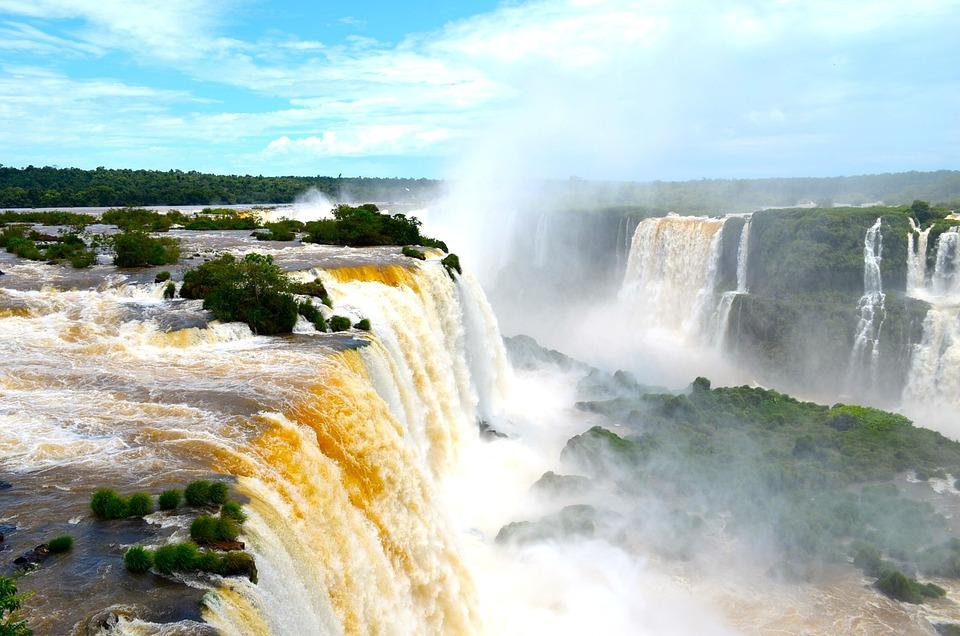 Iguazu, Cascade Falls, Waterfall, Brazil