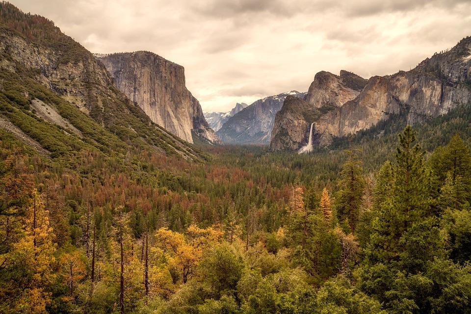 Yosemite, National Park, Waterfall, Falls, Cascade