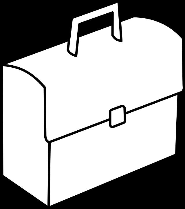 Portfolio, Suitcase, Case, Trunk, Bag