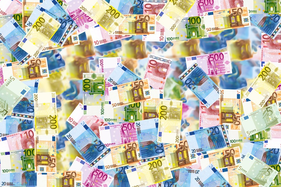 Money, Cash, Currency, Bank Notes, Bills, Euro, Wealth