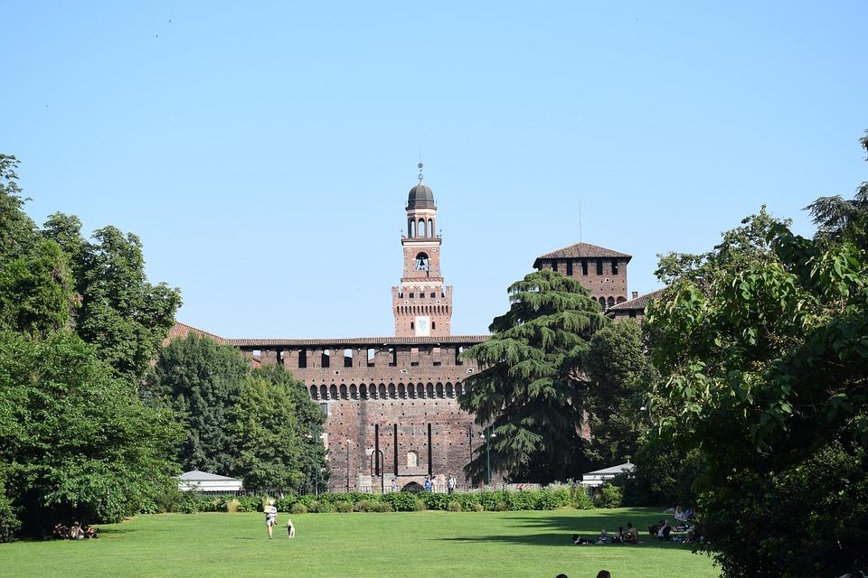 Castello Sforzesco, Sforza Castle, Milan, Milano, Italy