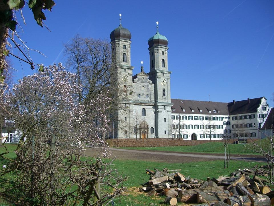 Castle Church, Friedrichshafen, Garden, Spring