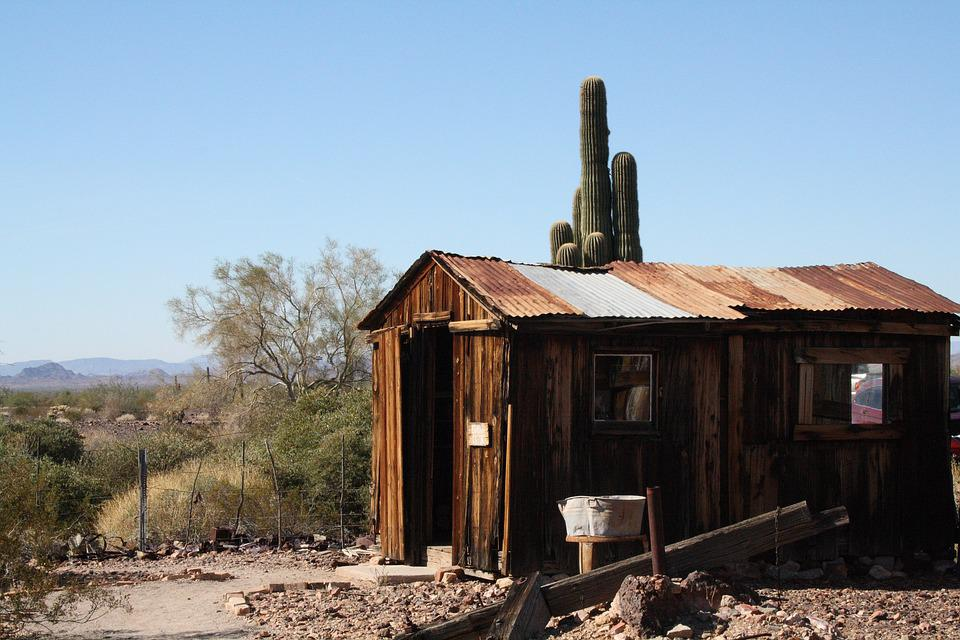Usa, Arizona, Quartzsite, Ghost Town, Castle Dome