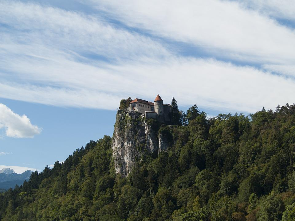 Bled, Castle, Slovenia, Europe, European, Hill