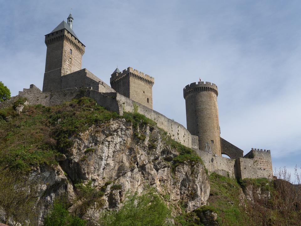 Castle, Foix, Ariège, Medieval Castle, Foix Castle