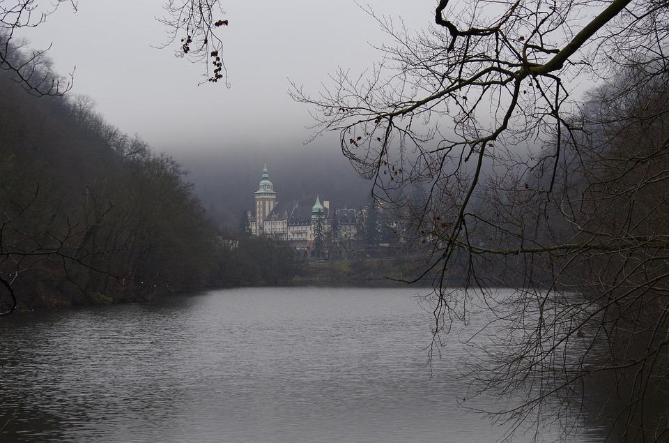 Nature, Autumn, Forest Lake, Castle, Lillafüred