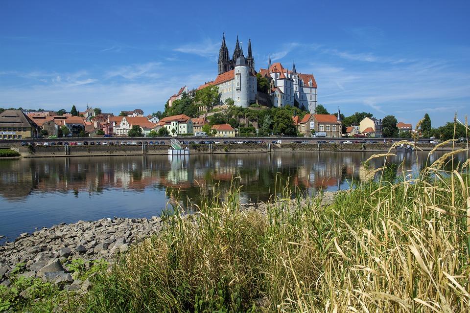Meissen, Castle, City, East Germany, Germany, Saxony