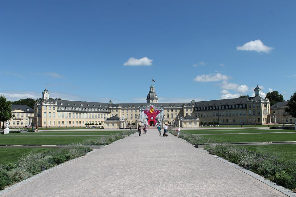 Castle, Karlsruhe, Overall View, Gorgeous