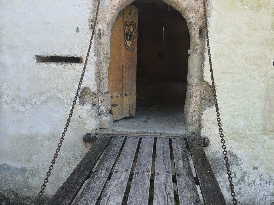 Door, Goal, Drawbridge, Castle, Hallwil