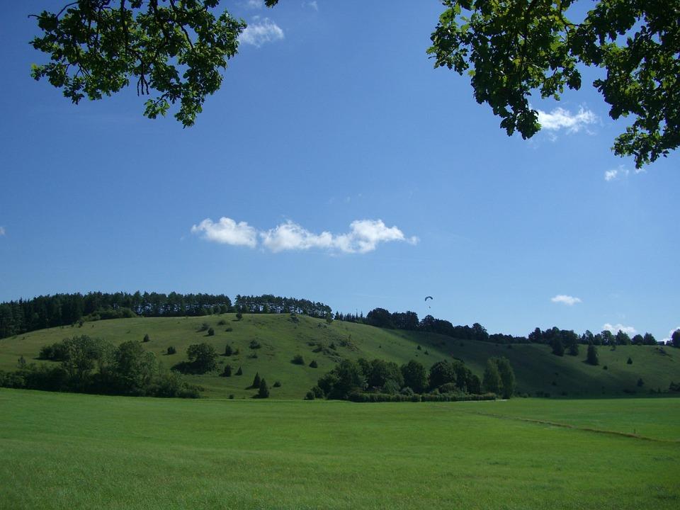 Huerbetal, Castle Hill, Sky, Blue, Landscape