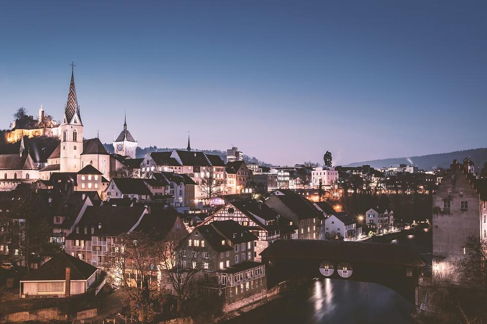 Architecture, City, Houses, Bridge, Building, Castle