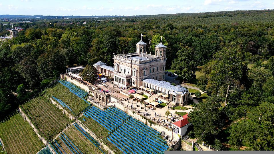 Lingner Palace, Palace, Landscape, Castle, Landmark