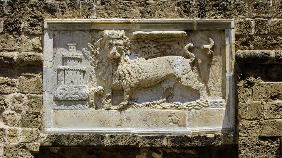 Cyprus, Famagusta, Castle, Othello Castle, Gate, Lion