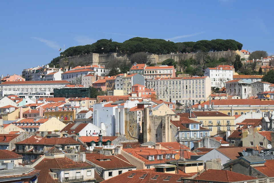 Castle, Low, Lisbon, Portugal
