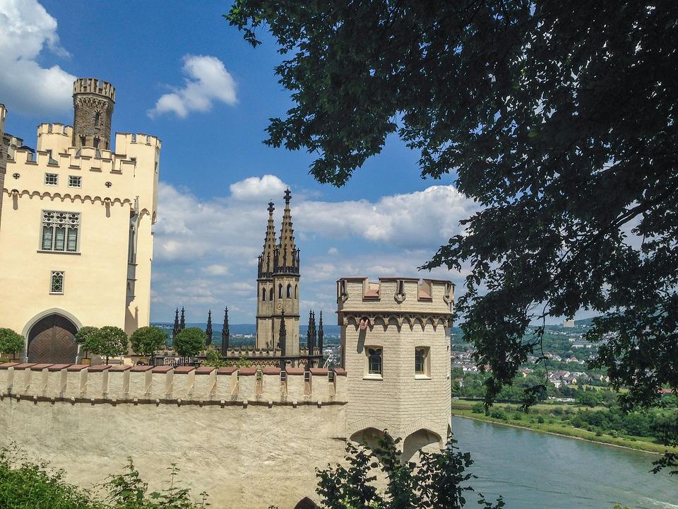 Rhine, Middle Rhine, Stolzenfels, Sachsen, Castle