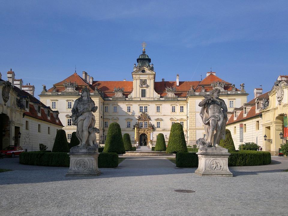 Bohemia, Valtice, Castle, Moravia, Baroque