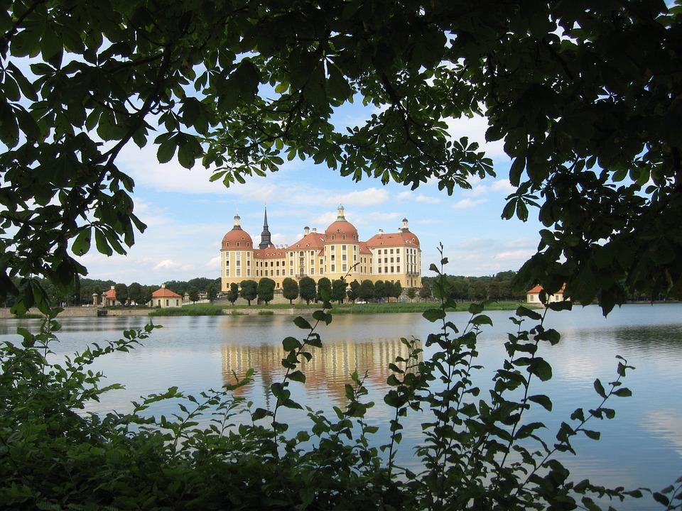 Moritz Castle, Castle, Lake, Saxony, Mirroring