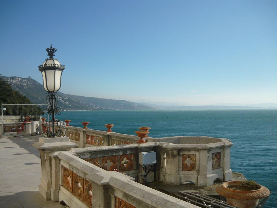 Trieste, Italy, Castle, Mountain, Lake