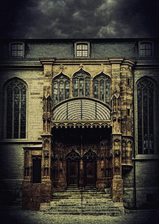 Spooky, House, Castle, Haunted, Mystery, Grunge