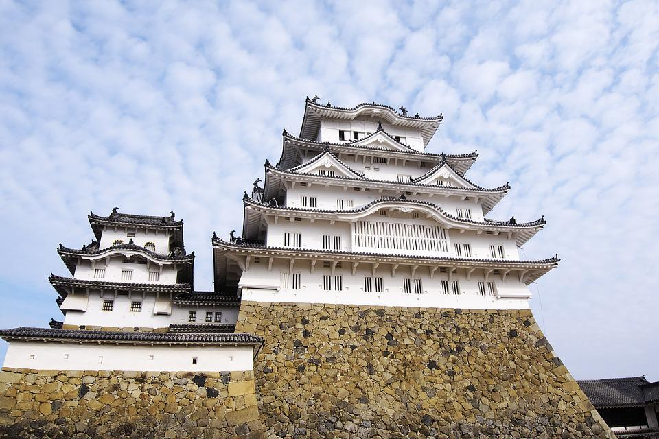Japan, Castle, Castle Of Japan, Himeji Castle, Building