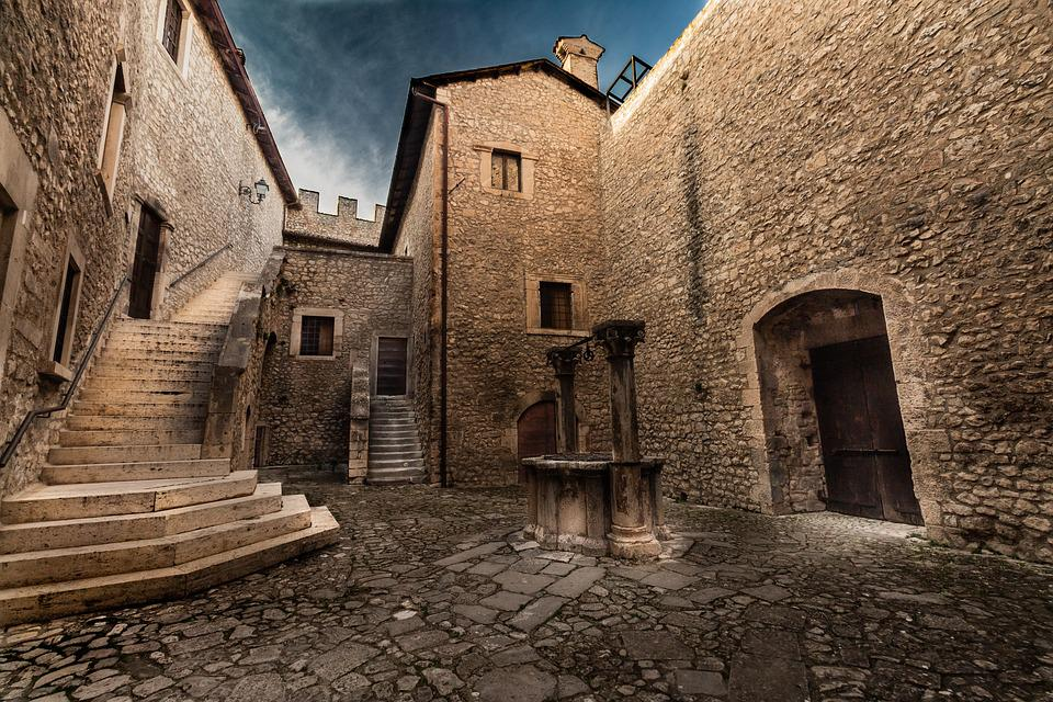 Castle, Stairs, Architecture, Scale, Construction, Old