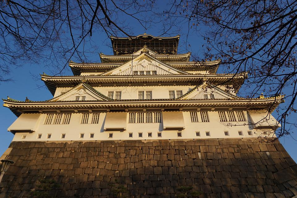 Japan, Castle, Osaka