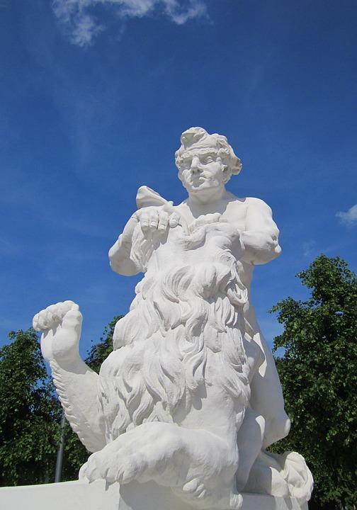 Karlsruhe, Palace Square, Castle, Palace, Statue