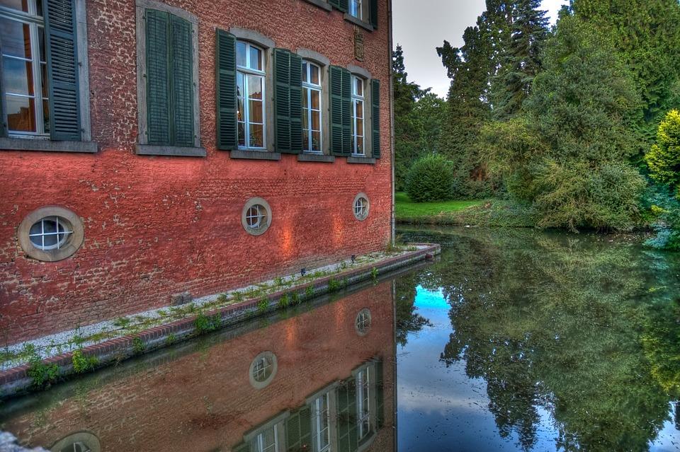 Castle, Castle Park, Schlossgarten, Park, Gymnich