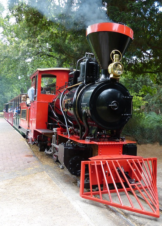 Steam Locomotive, Engine, Castle Park Karlsruhe