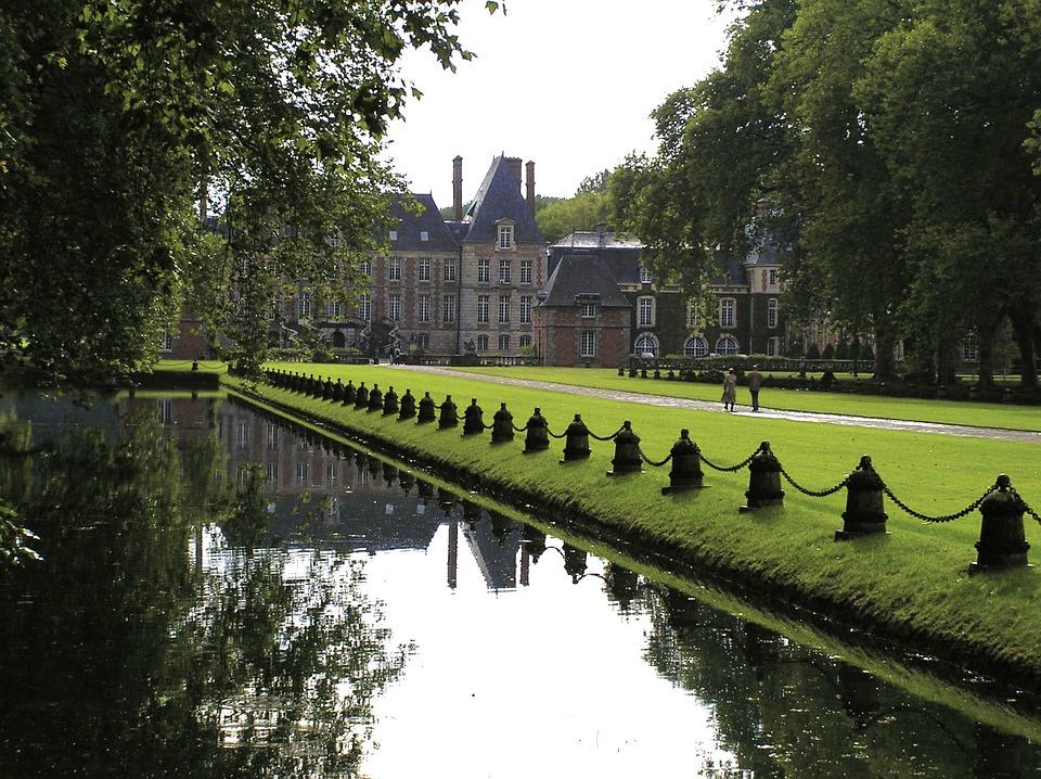France, Castle, Places Of Interest, Schlossgarten