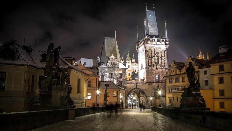 Prague, Czech Republic, City, River, Castle