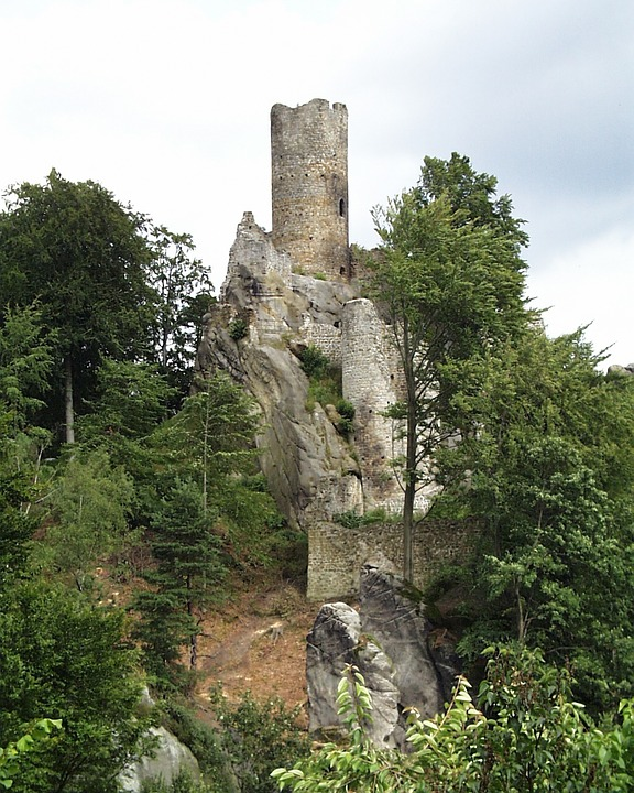Ruins, Castle, Monument, Frydstejn, Czech Republic