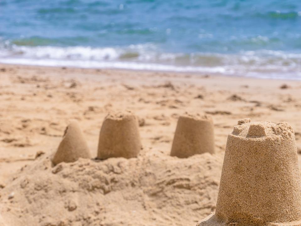 Castle Beach Sea Sand Sculpture Artwork Wave